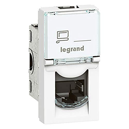 Legrand mosaic - Toma rj45 categoria 6 ftp 1 módulo blanco
