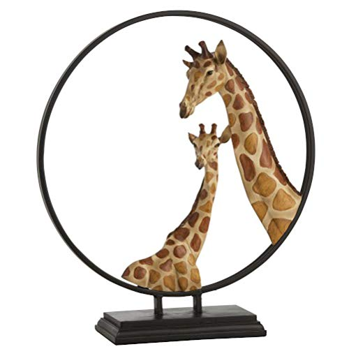 Statuette GIRAFES Cercle RESINE Marron (51x16x57cm) JOLIPA JLINE 94226