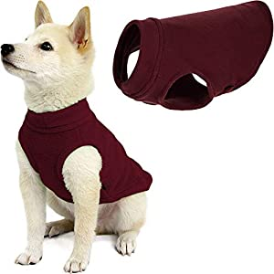 Gooby Stretch Fleece Dog Vest – Burgundy, Medium – Pullover Fleece Dog Sweater – Warm Dog Jacket Winter Dog Clothes Sweater Vest – Dog Sweaters for Small Dogs to Large Dogs for Indoor and Outdoor Use