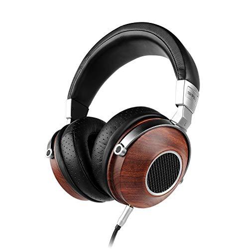 SIVGA SV007 Premium Wood Over-Ear Open Back Hi-Fi Headphones with Mic,Rosewood