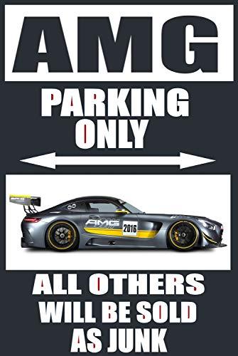 Lplpol Aluminium-Schild, Mercedes Amg Parking Only, Metallschild, öffentliche Schild, Dekoration, 30,5 x 45,7 cm