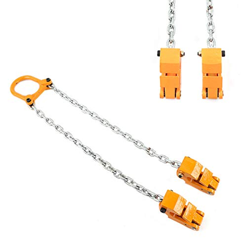 Lifter TBVECHI 2000 lbs Chain Drum Lifter Fiber Durable Vertical Drum Lifter Multifunctional Lifting Clamp Yellow 1T
