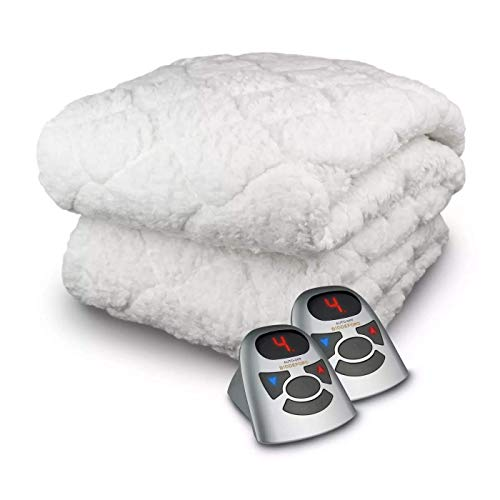 Biddeford Blankets Sherpa Electric Heated Mattress Pad with...