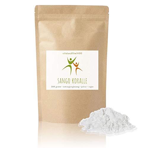 Sango Koralle Pulver - 300 g - Basisches Mineralpulver - in geprüfter Qualität - 100% Natur pur - glutenfrei, laktosefrei - OHNE Hilfs- u. Zusatzstoffe