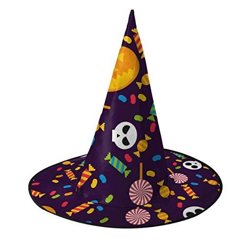 rouxf Kawaii Halloween Halloween Halloween Sombrero de Bruja Accesorio de Disfraz de Bruja Cosplay para Fiesta de Navidad de Halloween