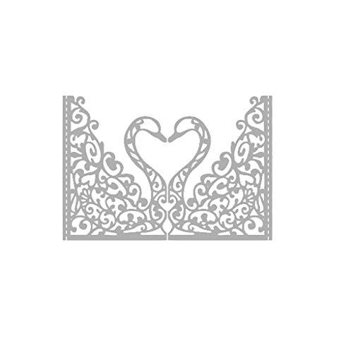 Balain Stanzschablonen Schwan Metall schneiden stirbt Schablone DIY Scrapbooking Album Stempel Papier Karte Prägung Handwerk Dekor Cutting Dies