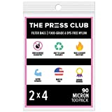 90 Micron | Premium Nylon Tea Filter Press Screen Bags | 2' x 4' | 100 Pack | Zero Blowout Guarantee | All Micron & Sizes Available