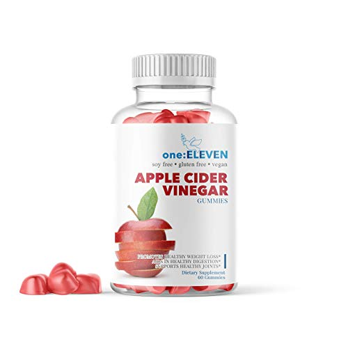 one:ELEVEN Apple Cider Vinegar Gummies - Amazing Taste with Raw Organic Unfiltered Mother Enzymes. Vegan, Gluten Free Alternative to Capsules, Tablets, Drinks. Daily Detox & Immunity Support.