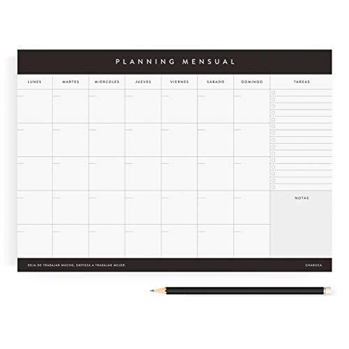 Planificador Charuca 100% productividad. Mensual