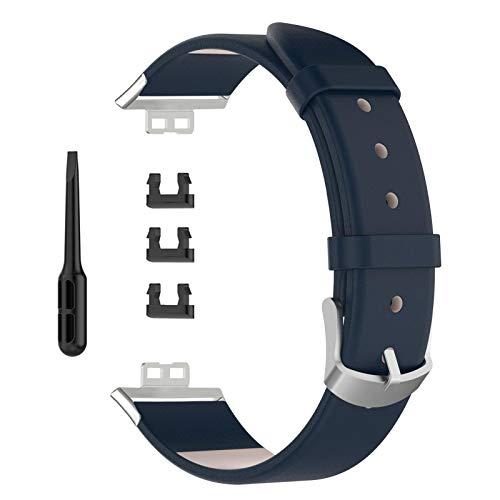 Hoonee Correa de Reloj, Correa de Reloj Deportivo Compatible con Huawei Watch FIT Smart Watch, Estilo Simple y Moderno Correa de Reloj Inteligente para Hombres Mujer(Azul)
