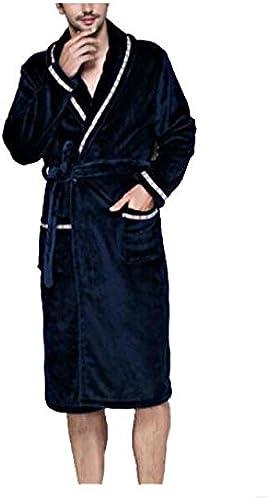 CanKun Hommes Femmes Doux Corail Polaire épaississant Peignoir de Bain Robeing Couple Peignoir Parfait pour la Maison Loisirs Douche Baignade, 002, L