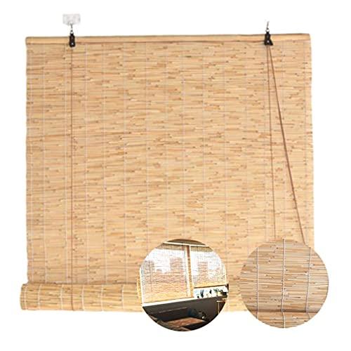 YAO YU Cortina de Caña Natural, Vintage Rodillo de Bambú,As,As Enrollables, Sombra Impermeable, con Elevador,As Y Tonos, Paraas Al Aire Libre/Interior, Tamaño Personalizado (50X120Cm / 20X47In),a,7