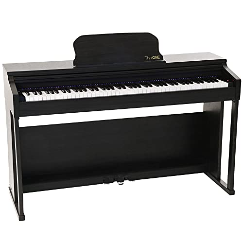 of cheap piano keyboards dec 2021 theres one clear winner The ONE Smart Piano, Weighted 88-Key Digital Piano, Grand Graded Hammer-Action Keys Upright Piano-Matte Black
