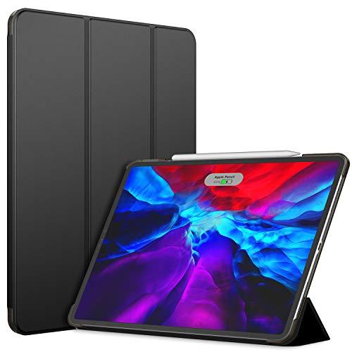 JETech Custodia Compatibile con iPad PRO 12,9 Pollici (4a Generazione, Modello 2020), Compatibile con Pencil, Cover con Auto Svegliati/Sonno, Nero