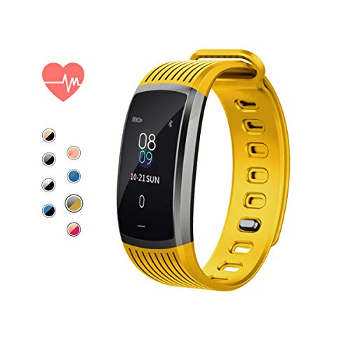 AOE Fitness Tracker IP67 Waterproof Environmental Sport Smart Watch Multiple Motion Modes Activity Tracker with HR, BP, Calories, Pedometer, Sleep Monitor, Remind Call/SMS, Best for Man Women & Kids