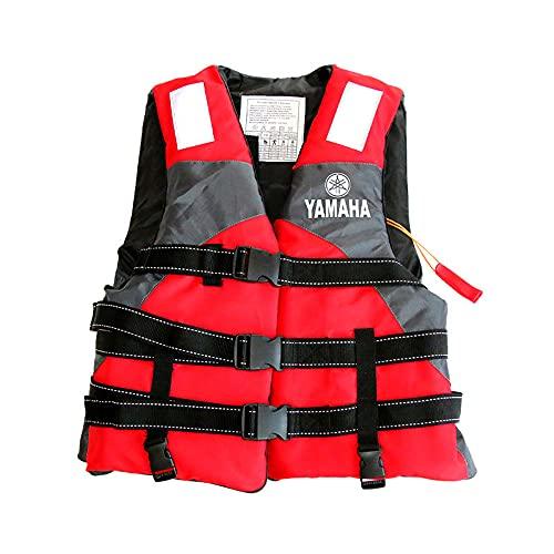 Mabor Chaleco salvavidas, chaleco de natación para adultos, chaleco flotante de seguridad, chaleco de ayuda de flotación con silbato hebilla ajustable chaleco de natación chaleco de buceo para canoa