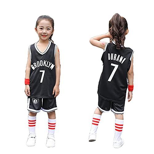 CYQQ Camiseta 7# para niños, Brooklyn Nets Kevin Durant Jersey #7, Transpirable, Fresco, Entrenamiento Deportivo Transpirable de Malla sin Mangas Top Chaleco(Size:M(130-140cm),Color:A2)