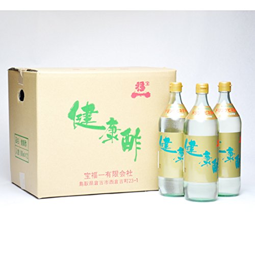 宝福一 健康酢 900ml 6本 鳥取 調味料 酢 ドリンクビネガー リンゴ酢 飲むお酢 調理酢 らっきょう酢 送料無料