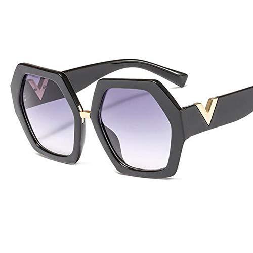 Luntus Top Trending Transparente Lila Sonnenbrille Frauen Mode Shades Kunststoff Klare Brille Sechseckige Sonnenbrille Uv400