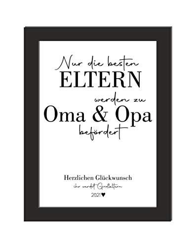 Definition Oma/Geschenk Großeltern/Verkündung Schwangerschaft/Geschenk Enkelkind/DIN A4, ohne Bilderrahmen