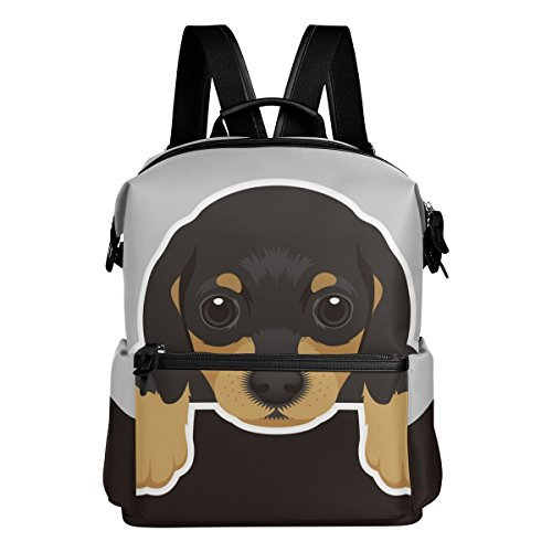 Rucksack für Hunde, Dackel, leicht, wasserdicht, Polyester, großes Fassungsvermögen, Campus-Rucksack, Reiserucksack, Tagesrucksack, Schwarz