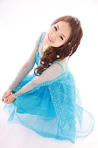 『クイーンアント(queenant) アナと雪の女王 Frozen エルサ Elsa ドレス コスプレ 本格 衣装 ミニ丈 ショート丈』の1枚目の画像