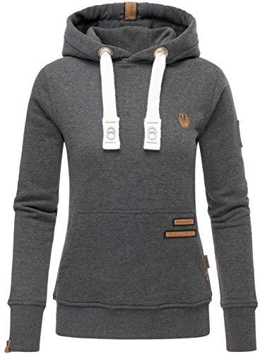 Navahoo Damen Sweatshirt Hoodie Pullover Pulli Sweater Kapuze warm B686 [B686-Daml-Dunkelgrau-M.-Gr.XL]