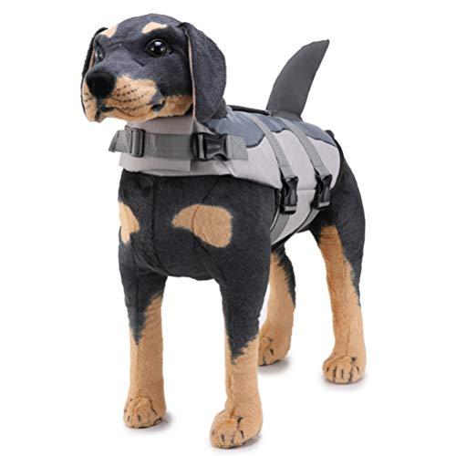 Schwimmweste für Hunde, verstellbar, Haifischflossen, Rettungsweste mit Griff zum Schwimmen und Bootfahren