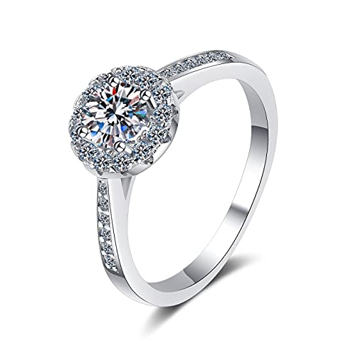 Anillo ZIYUYANG, anillo de Moissanite, joyería de compromiso de plata esterlina para mujer, regalo 6 2ct