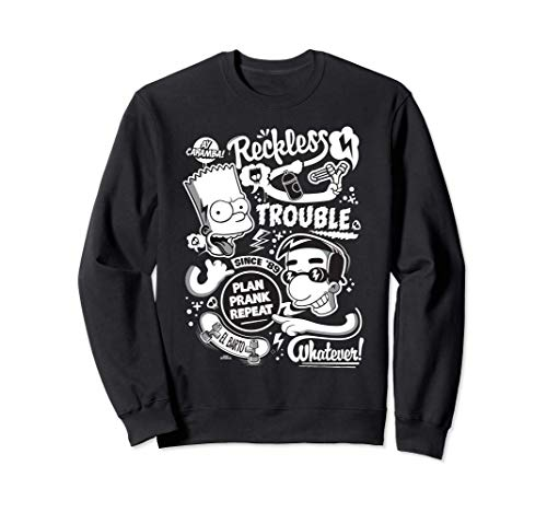 The Simpsons Bart and Milhouse Reckless Trouble Since '89 Sweatshirt