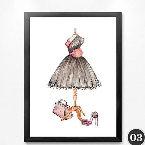 baodanla Geen frame olie ng up,Schoonheid canvas roze rok hoge hakken op canvas olie ng, afdrukken kleuterschool, familie muurschildering