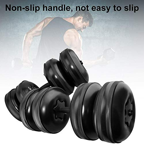 AZHUI Eignungdumbbells 20kg Wasser gefüllte justierbarer Hantelset Training Arm Muskelkraft Fitness Hantel perfekt for Bodybuilding Gewichtheben Training Workout