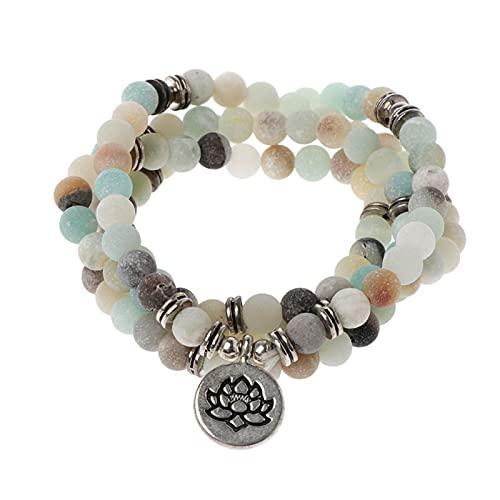 LIDIYA AC918 108 Beads Necklace for Yoga Buddhist Rosary Prayer Charm Bracelet Bracelets (Metal Color : 2)
