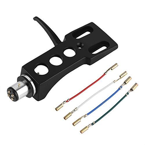 Headshell, Reemplazo Universal del Soporte de Headshell de Phono de la Placa giratoria de LP con 4 alambres de Plomo de Cobre sin oxígeno, convenientes para el diverso Phono
