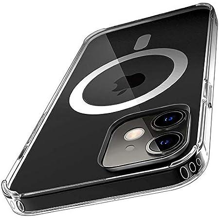 MagSafe 対応 マグネット搭載 iPhone12 mini ケース クリア iPhone12miniケース iPhone12miniケース カバー バンパー クリアケース 12 iPhone 12 mini iPhone 12mini magsafe対応 マグセーフ マグセイフ ハード iPhoneケース スマホケース 透明 耐衝撃 衝撃吸収 アイフォン12 MagSafe (iPhone12 mini (5.4), クリア)