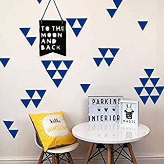 Black JUEKUI Teepee Triangle Arrow Pattern Wall Decals Modern Triangles Wall Stickers for Kids Room Baby Bedroom Tribal Nursery Wall Decor Set of 52 pcs WS13