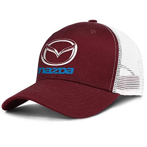 Mazda-Logo Unisex Mesh Trucker Cap Einstellbare Snapback Sportmütze - - Einheitsgröße