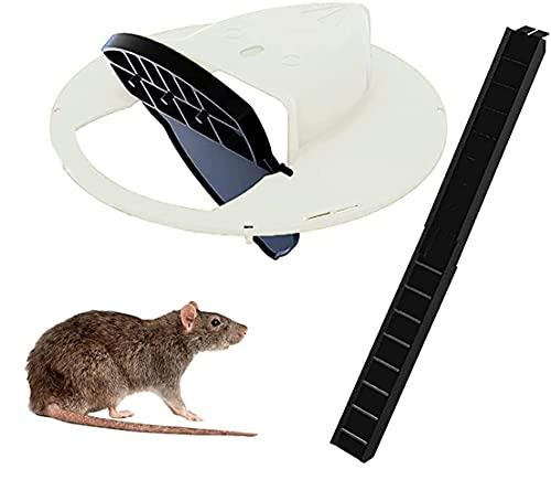 SUNGROO Flip N Slide Bucket Lid Mouse/Rat Trap Slide Bucket Lid Mouse Trap with Ladder, Auto Reset Design Balance Mouse Tra,Multi Catch&5 Gallon Bucket Compatible