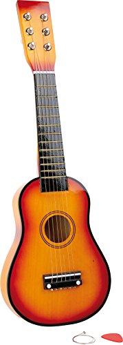 Small Foot 7160 Guitare / instrument de musique en bois, pour enfants, avec cordes métalliques et plectre, à partir de 3 ans