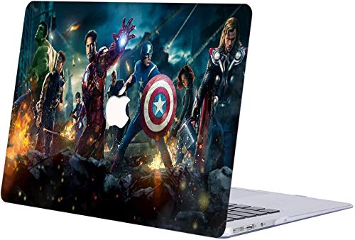 For MacBook Pro 13 Case 2018 2017 2016 Release A1706/A1708/A1989, RQTX Plastic Hard Case Laptop Cover for MacBook Pro 13 Inch with/Without Touch Bar and Touch ID - Avengers LRS334