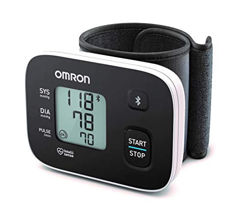 OMRON RS3 Intelli IT - Tensiómetro de muñeca con conectividad Bluetooth para uso doméstico o...