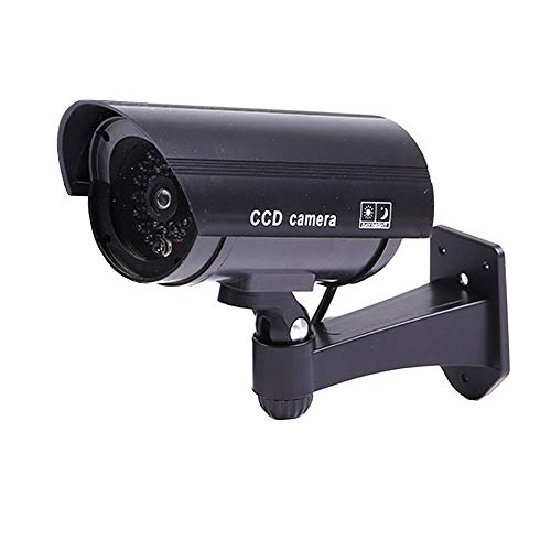 ELEAR nero fake dummy camera Videocamere finte macchina fotografica di sicurezza CCTV sorveglianza interna esterna IR LED impermeabile