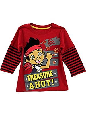Jake and The Neverland Pirates Toddler Boys Shirt (2T) Red