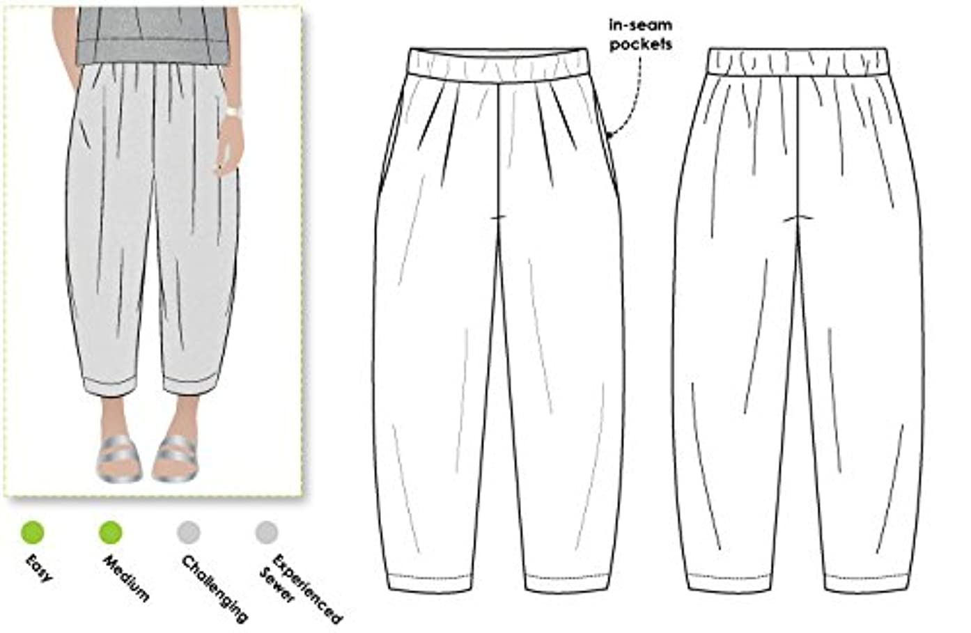 Style Arc Sewing Pattern - Ethel Designer Pant (Sizes 18-30) - Click for Other Sizes Available
