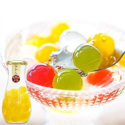 ふみこ農園 プチギフト 退職 お礼 子供 お返し 果汁たっぷり!フルーツゼリーボールコンポート (みかん)<10572>