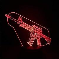 3D LED錯視ランプ 歩兵銃器ナイトライトイリュージョンUSBタッチセンサーRGB子供キッズギフト武器銃テーブルランプデスク