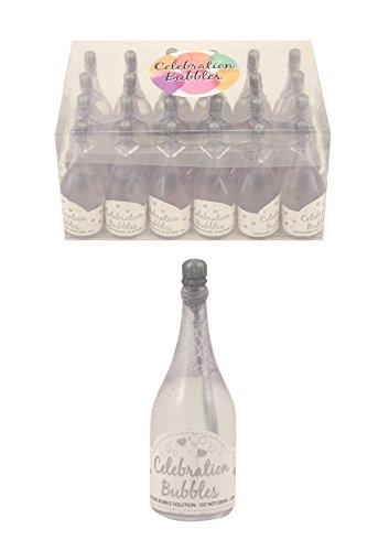 Champagne fles bubbels zilver - pak van 24