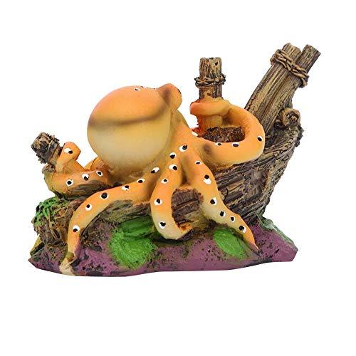 Fdit Harz Aquarium Octopus Künstliche Simulation Octopus Aquarium Dekor Aquarium Landschaft Ornament Zubehör Unterwassersimulation Aquarium Dekoration