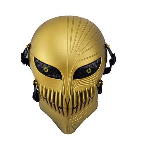 WISEONUS Máscara de paintball Airsoft táctica cráneo máscara completa de cara protectora con malla metálica protección ocular
