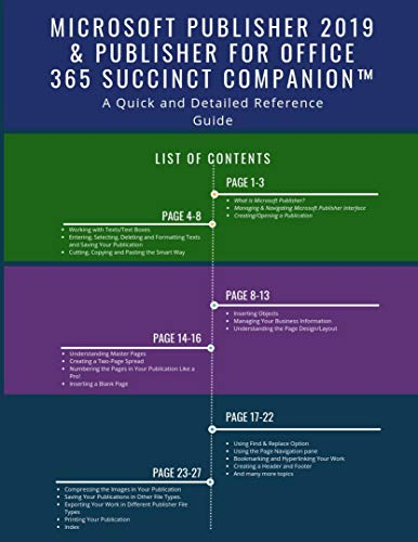 Microsoft Publisher 2019 & Publisher for Office 365 Succinct Companion™: A Quick and Detailed Reference Guide (English Edition)